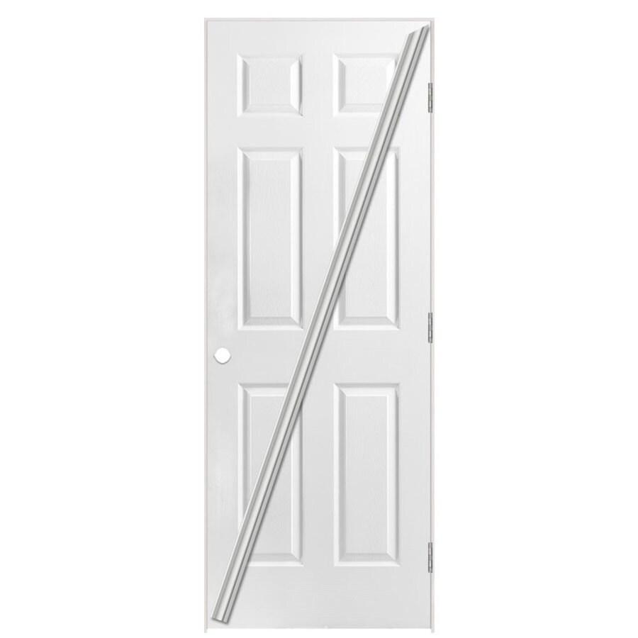 Masonite Loose 366 Primed Hollow Core Molded Composite Single Prehung Interior Door (Common: 32-in x 80-in; Actual: 33.5-in x 81.5-in)