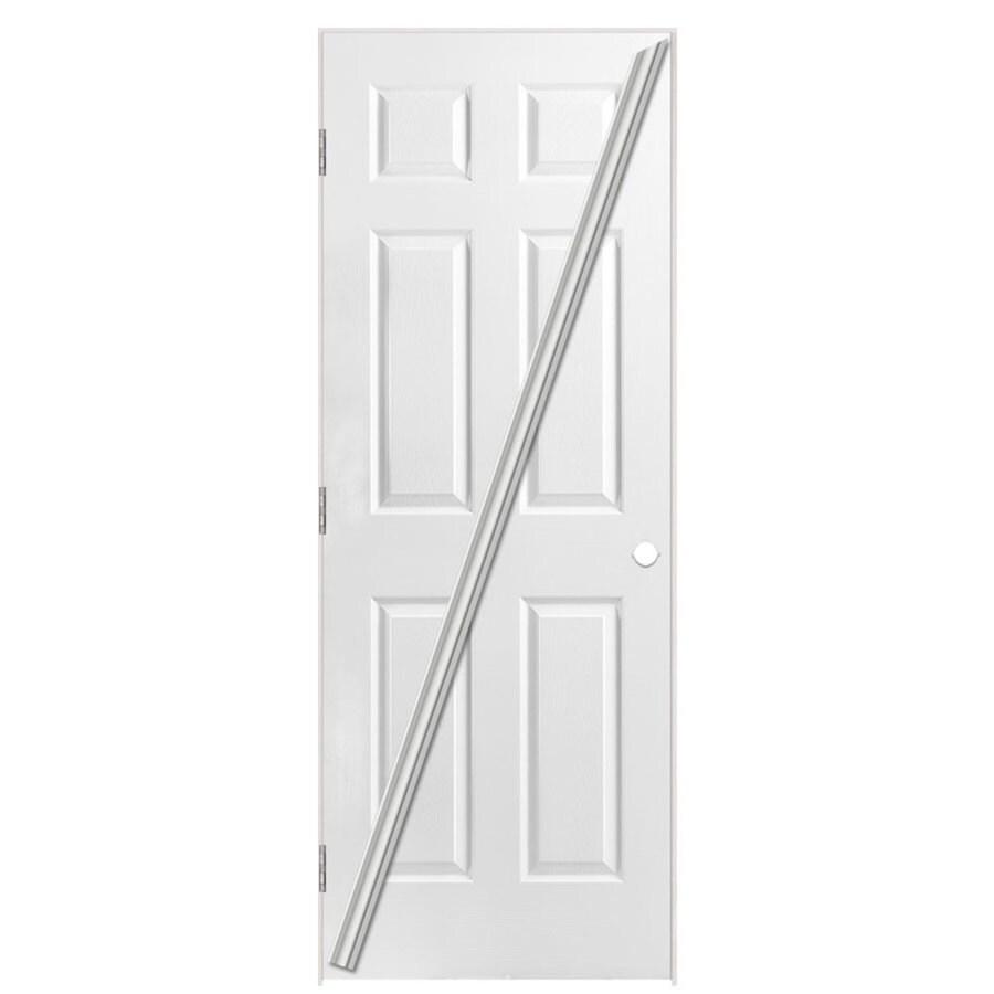 Masonite Loose 366 6-panel Single Prehung Interior Door (Common: 32-in X 80-in; Actual: 33.5-in x 81.5-in)