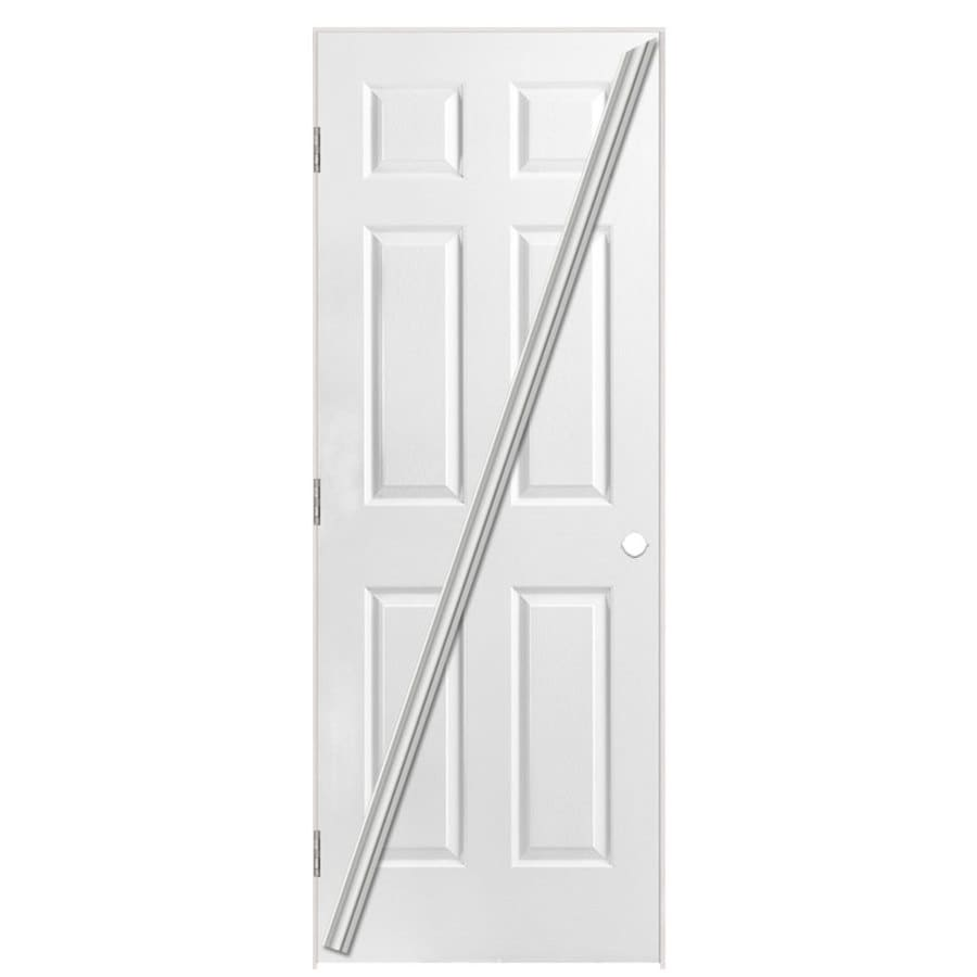 Masonite Loose 366 6-panel Single Prehung Interior Door (Common: 36-in x 80-in; Actual: 37.5-in x 81.5-in)