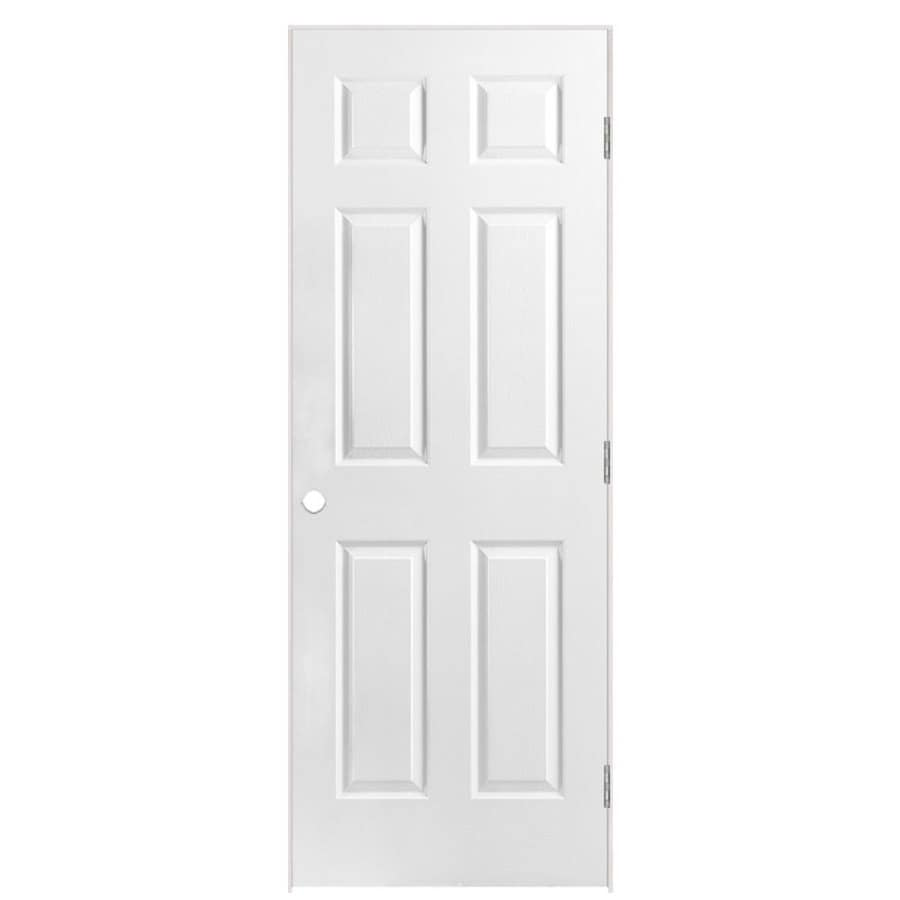 Shop Masonite Prehung Hollow Core 6 Panel Interior Door Common 28 In X 80 In Actual 29 5 In