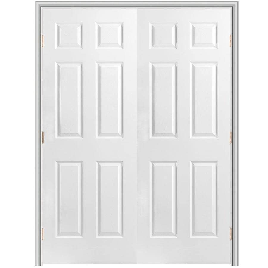Shop masonite prehung hollow core 6 panel interior door common 48 in x 80 in actual 49 5 in - Hollow core interior doors lowes ...