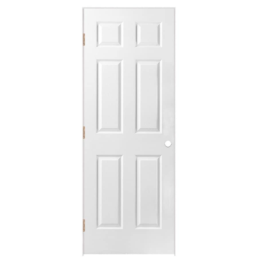 Shop masonite prehung hollow core 6 panel interior door common 30 in x 80 in actual 31 5 in - Hollow core interior doors lowes ...