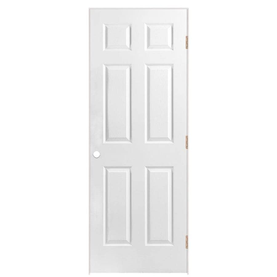 Shop masonite prehung hollow core 6 panel interior door common 32 in x 80 in actual 33 5 in - Hollow core interior doors lowes ...