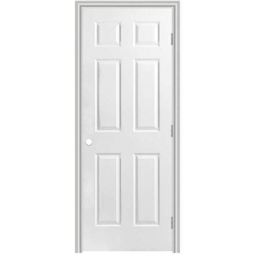 Masonite Traditional 24 In X 80 In 6 Panel Hollow Core Primed Molded Composite Left Hand Inswing Outswing Single Prehung Interior Door In The Prehung Interior Doors Department At Lowes Com