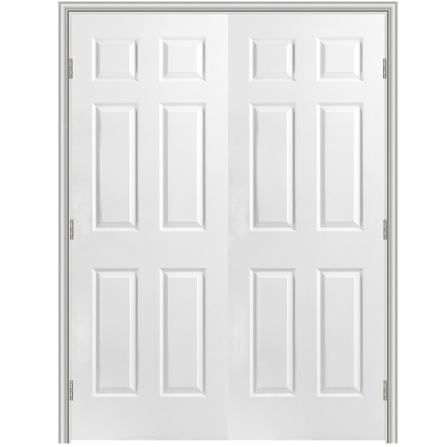 Masonite Classics Primed Hollow Core Molded Composite Slab Interior Door (Common: 48-in x 80-in; Actual: 49.5-in x 81.5-in)