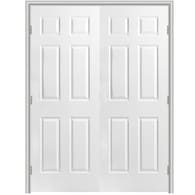 Masonite Primed 6 Panel Hollow Core Molded Composite Double Pre Hung Door