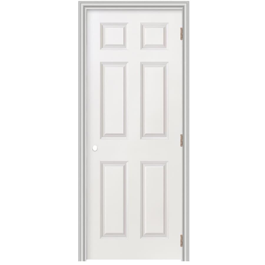 Masonite Prehung Hollow Core 6-Panel Interior Door (Common: 24-in x 78-in; Actual: 25.5-in x 79.5-in)