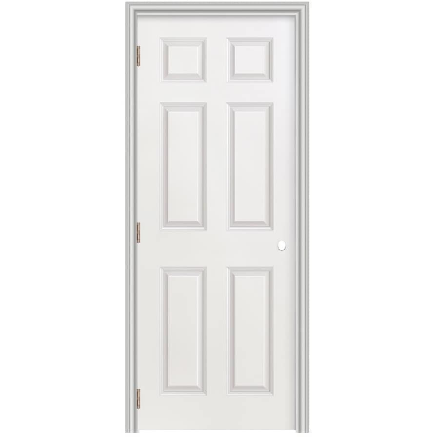 Masonite Prehung Hollow Core 6-Panel Interior Door (Common: 28-in x 78-in; Actual: 29.5-in x 79.5-in)