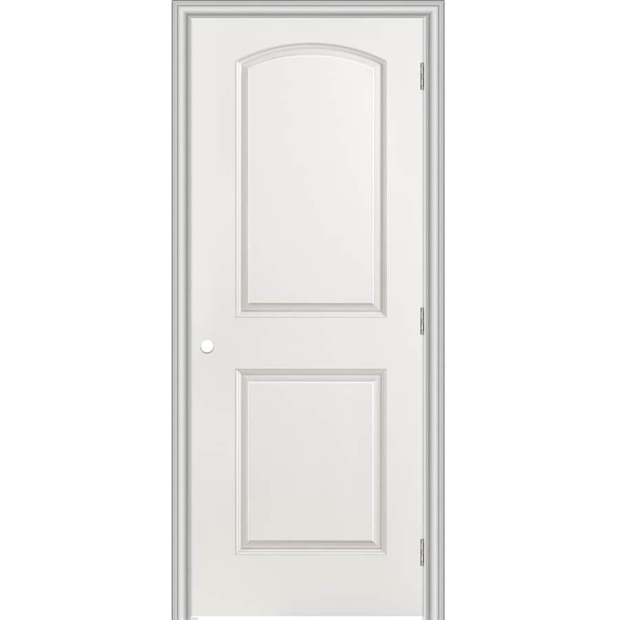 Masonite Prehung Hollow Core 2-Panel Round Top Interior Door (Common: 24-in x 80-in; Actual: 25.5-in x 81.5-in)