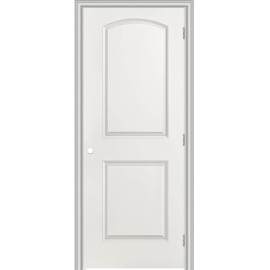 Masonite Prehung Hollow Core 2-Panel Round Top Interior Door (Common: 30-in x 80-in; Actual: 31.5-in x 81.5-in)