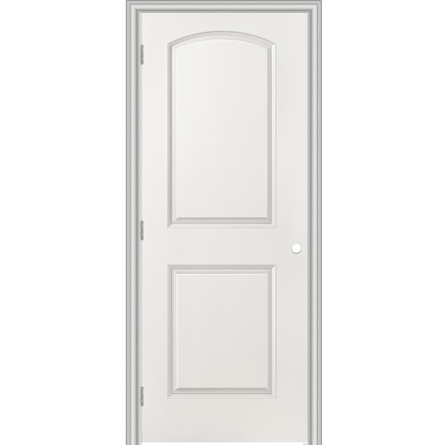 Shop masonite primed 2 panel round top hollow core molded for Www masonite com interior doors
