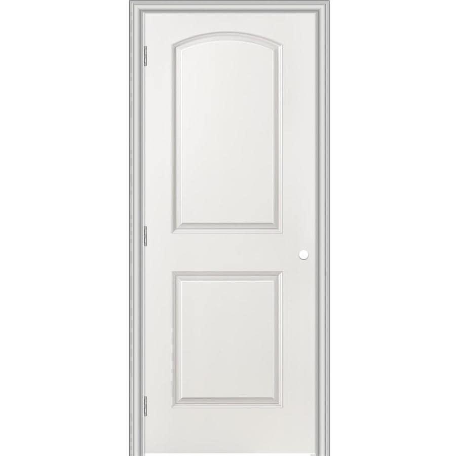 Masonite Prehung Hollow Core 2-Panel Round Top Interior Door (Common: 32-in x 80-in; Actual: 33.5-in x 81.5-in)