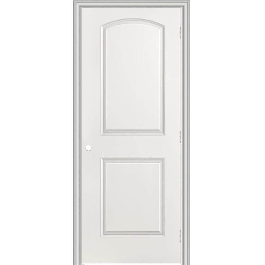 Masonite Prehung Hollow Core 2-Panel Round Top Interior Door (Common: 32-in x 80-in; Actual: 33.5-in x 81.5-in)