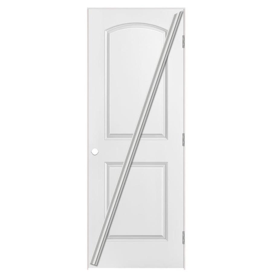 Masonite Loose 366 Prehung Hollow Core 2-Panel Round Top Interior Door (Common: 28-in x 80-in; Actual: 29.5-in x 81.5-in)