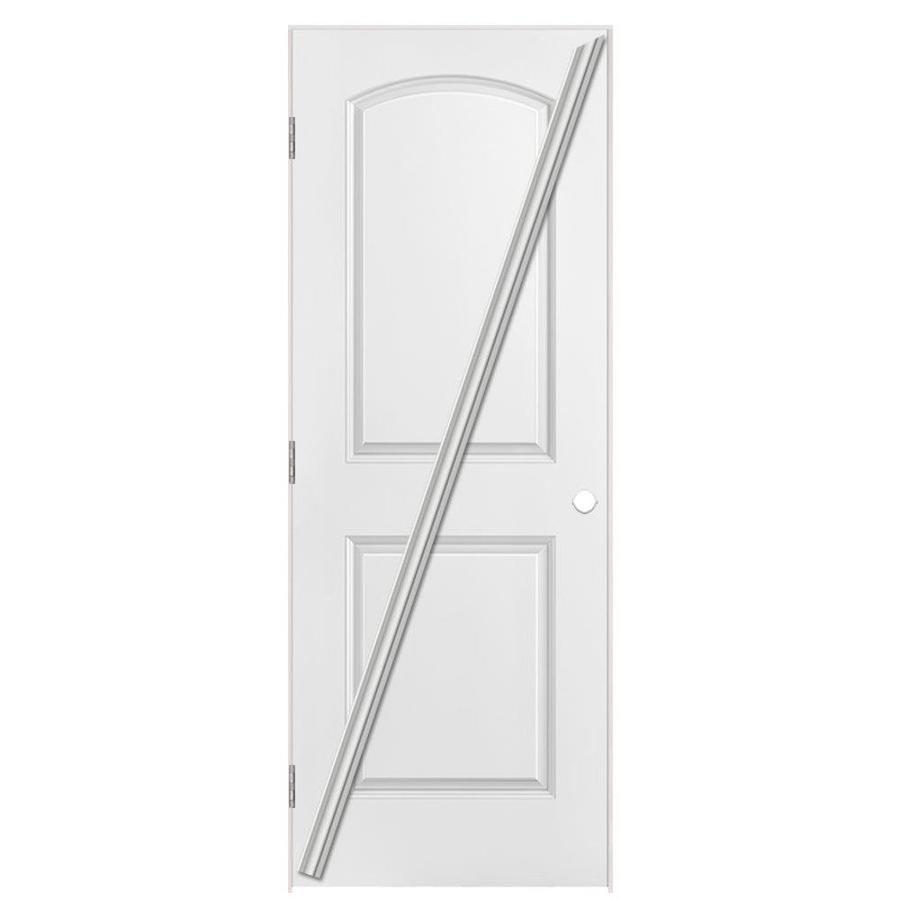 Masonite Loose 366  2-panel Round Top Single Prehung Interior Door (Common: 36-in X 80-in; Actual: 37.5-in x 81.5-in)