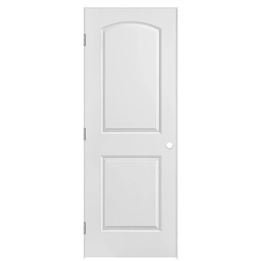 Shop Masonite Prehung Hollow Core 2 Panel Round Top Interior Door Common 28 In X 80 In Actual