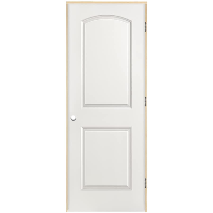 Shop Masonite Classics 2 Panel Round Top Single Prehung Interior Door Common 28 In X 80 In