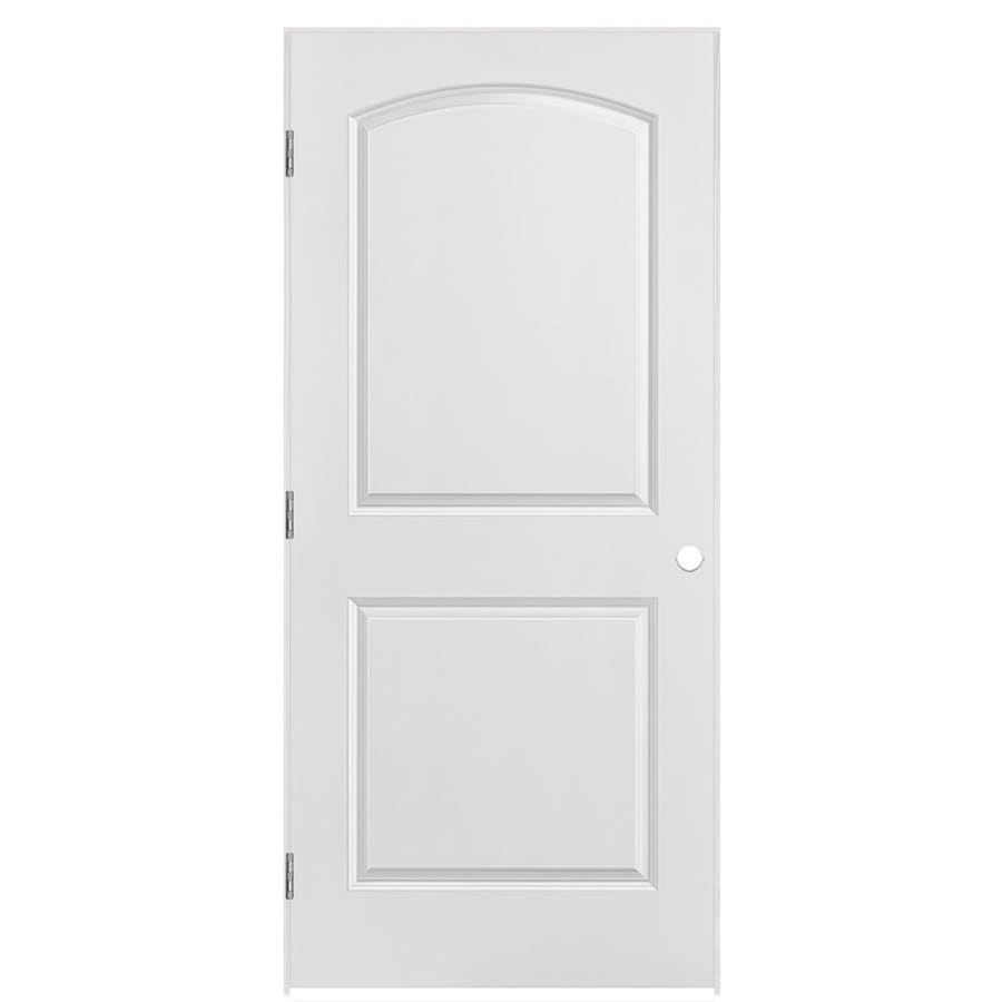 Masonite Prehung Hollow Core 2-Panel Round Top Interior Door (Common: 36-in x 80-in; Actual: 37.5-in x 81.5-in)