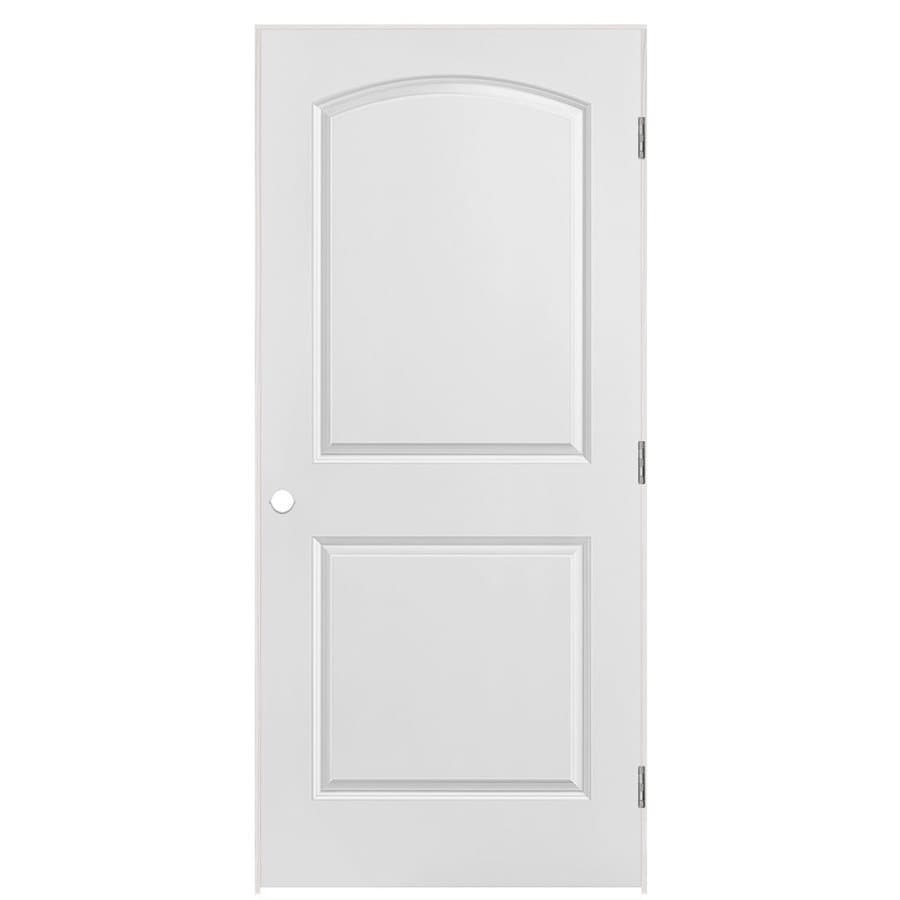 Masonite Classics  2-panel Round Top Single Prehung Interior Door (Common: 36-in X 80-in; Actual: 37.5-in x 81.5-in)