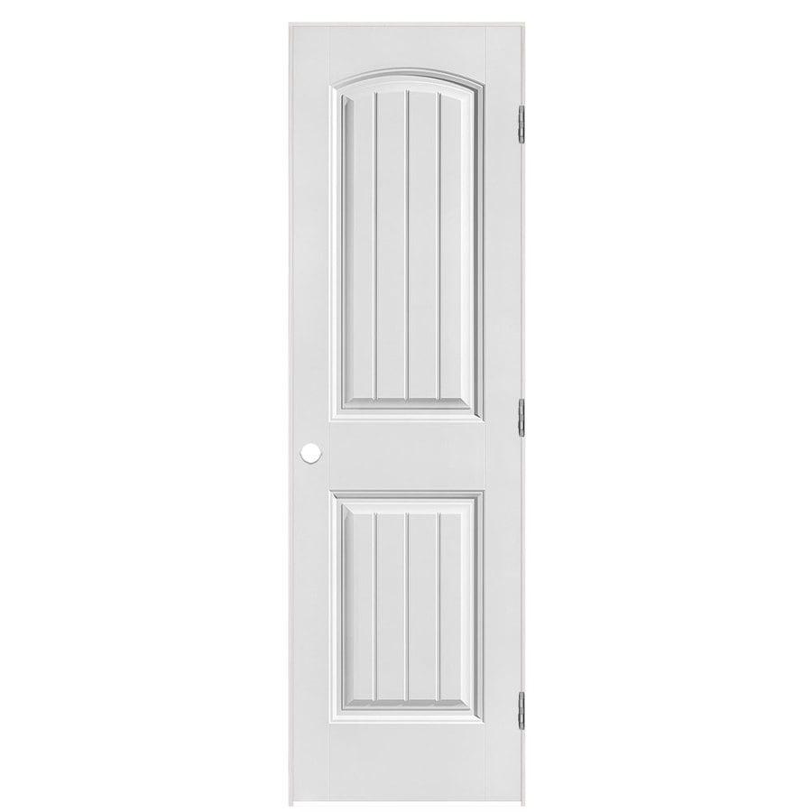 Masonite Prehung Hollow Core 2-Panel Round Top Plank Interior Door (Common: 24-in x 80-in; Actual: 25.5-in x 81.5-in)