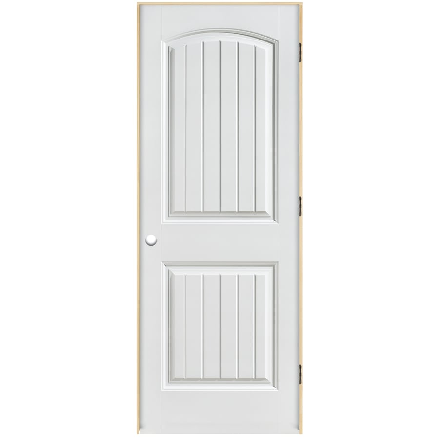 Masonite Classics  2-panel Round Top Plank Single Prehung Interior Door (Common: 30-in X 80-in; Actual: 31.5-in x 81.5-in)