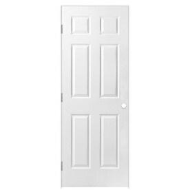 Masonite Primed 6 Panel Solid Core Molded Composite Single Prehung Door Common 30