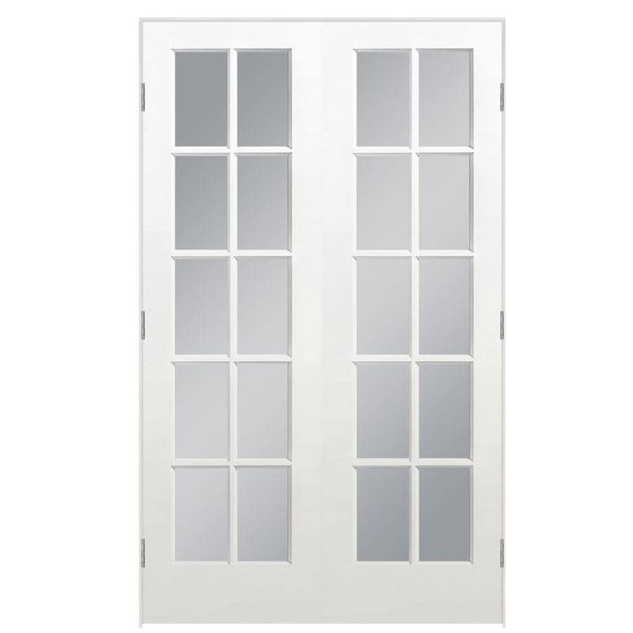 Masonite Prehung Solid Core 10-Lite Clear Glass Pine Interior Door (Common: 48-in x 80-in; Actual: 49.5-in x 81.5-in)