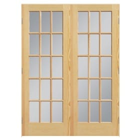 masonite clear glass pine interior door common 60in x 80in