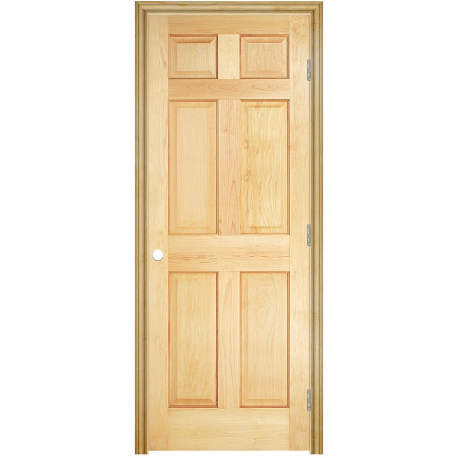 Masonite Prehung Solid Core 6-Panel Pine Interior Door (Common: 36-in x 80-in; Actual: 37.5-in x 81.5-in)