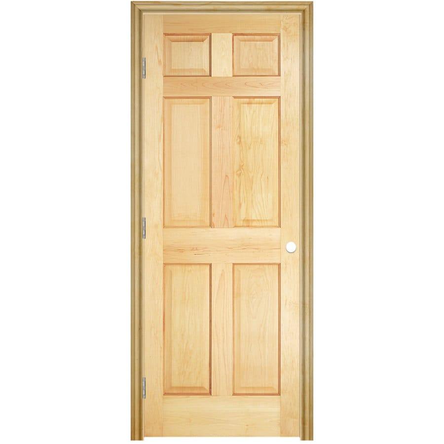 Masonite Classics 6-panel Pine Single Prehung Interior Door (Common: 24-in x 78-in; Actual: 25.5-in x 79.5-in)