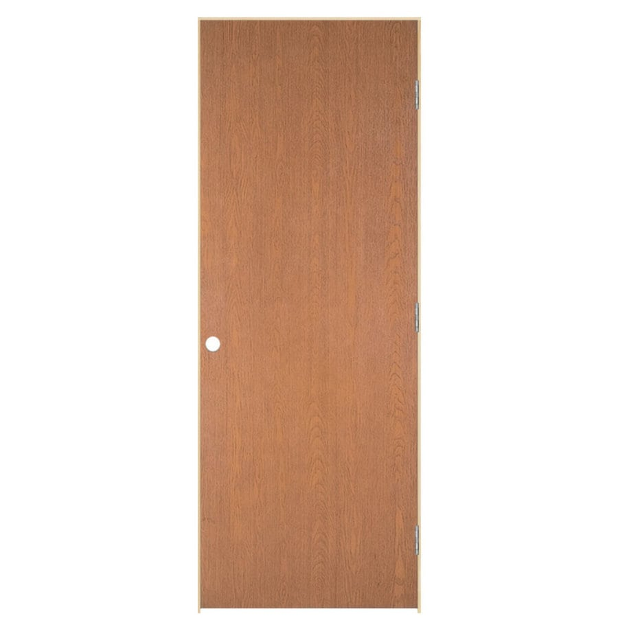 Masonite Prehung Hollow Core Flush Hardwood Interior Door (Common: 24-in x 80-in; Actual: 25.5-in x 81.5-in)