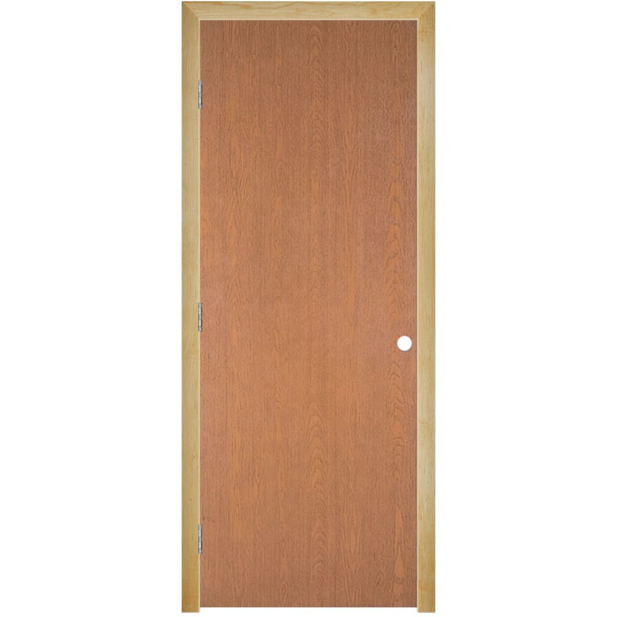 Masonite Classics  Flush Hardwood Single Prehung Interior Door (Common: 28-in X 80-in; Actual: 29.5-in x 81.5-in)