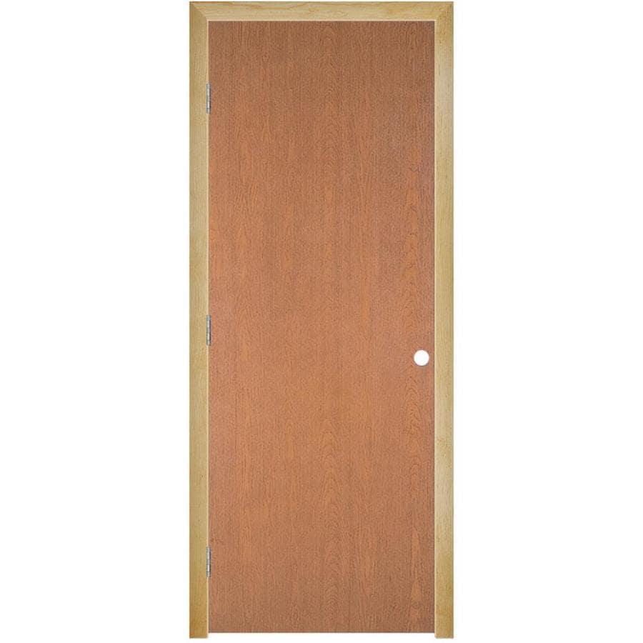 Masonite Prehung Hollow Core Flush Hardwood Interior Door (Common: 30-in x 80-in; Actual: 31.5-in x 81.5-in)