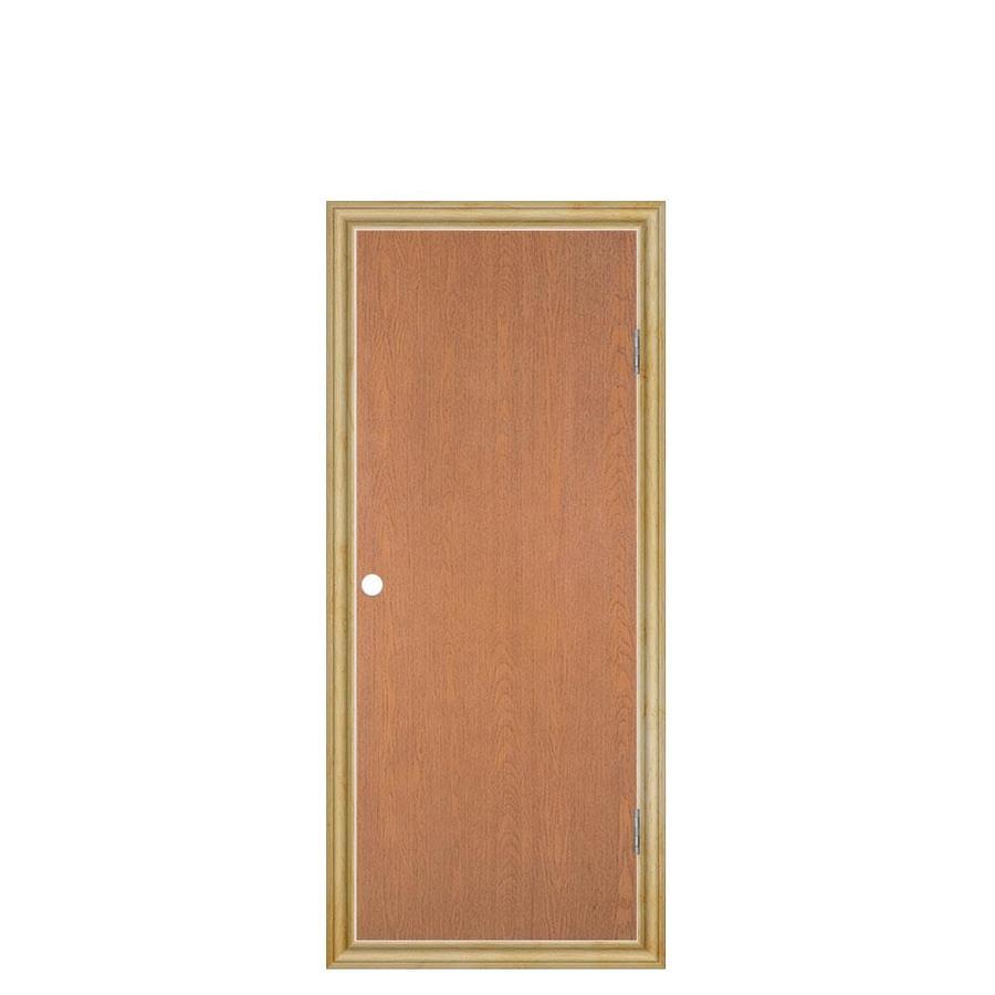 Masonite Prehung Hollow Core Flush Hardwood Interior Door (Common: 24-in x 60-in; Actual: 25.5-in x 61.5-in)