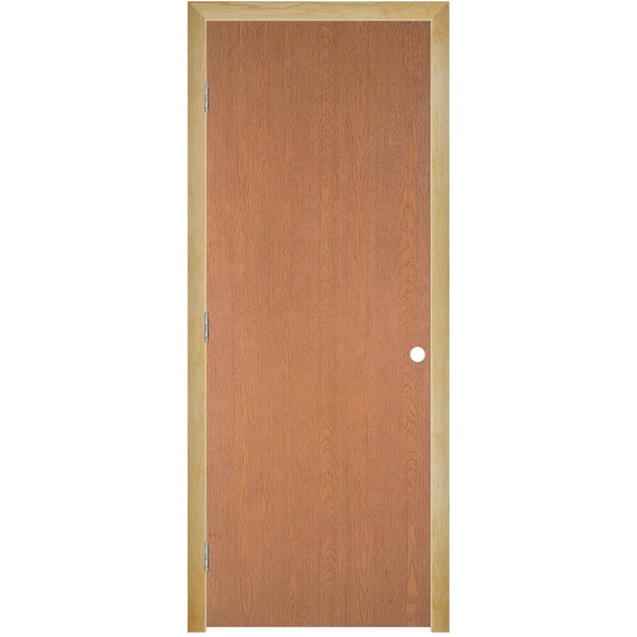 Masonite Prehung Hollow Core Flush Hardwood Interior Door (Common: 30-in x 80-in; Actual: 31.5-in x 81.5-in)