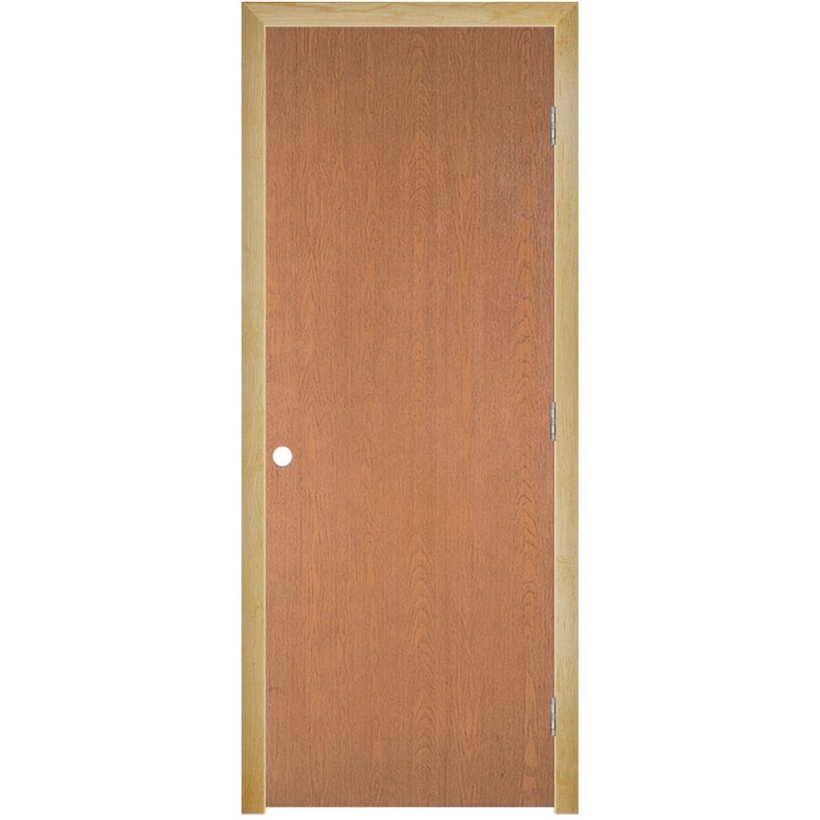 Masonite Classics  Flush Hardwood Single Prehung Interior Door (Common: 36-in X 80-in; Actual: 37.5-in x 81.5-in)
