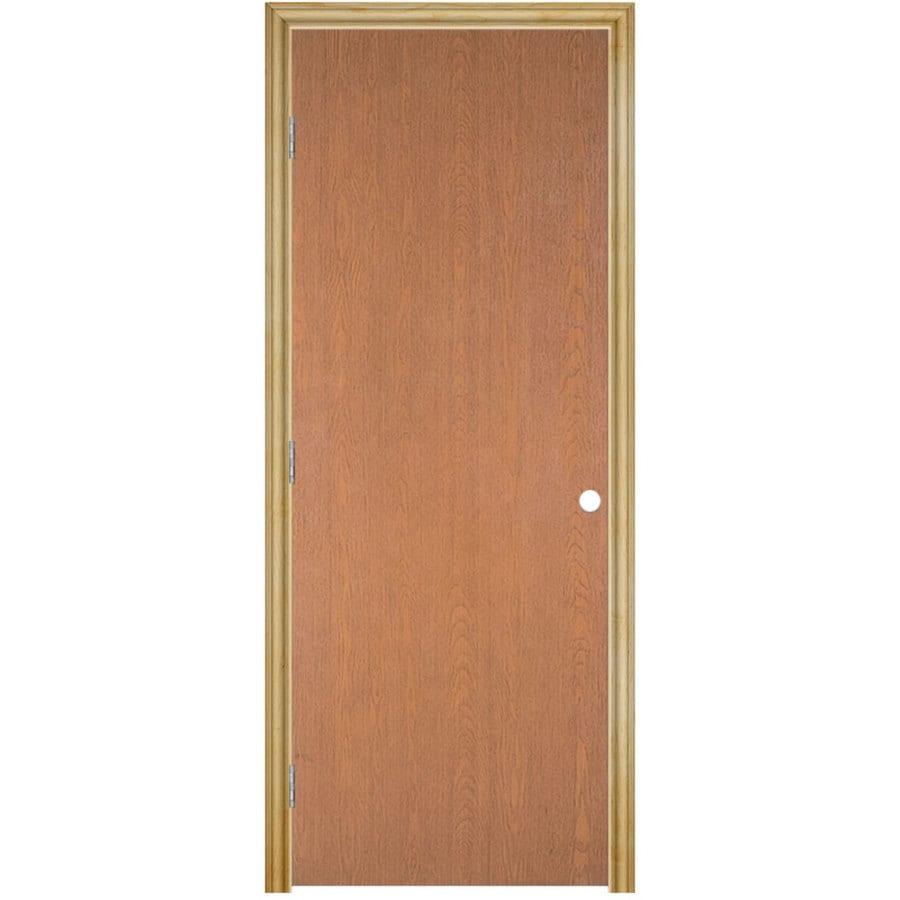 Masonite Classics Hollow Core Veneer Hard Single Prehung Interior Door (Common: 28-in x 80-in; Actual: 29.5-in x 81.5-in)