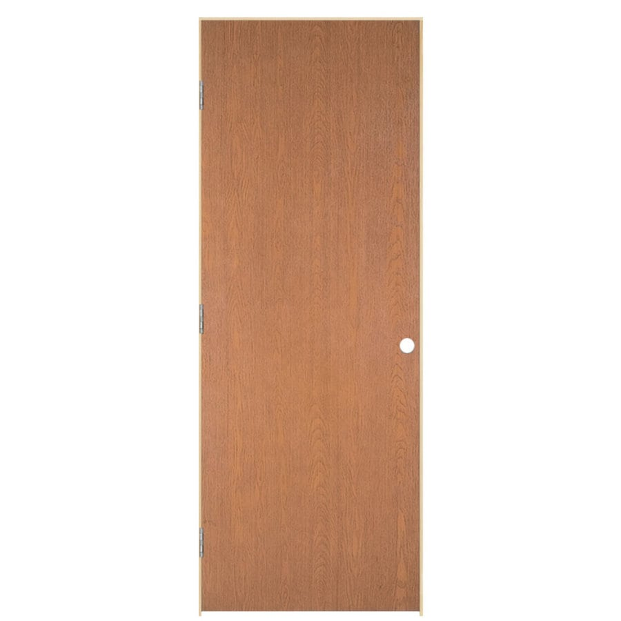 Masonite Prehung Hollow Core Flush Hardwood Interior Door (Common: 32-in x 78-in; Actual: 33.5-in x 79.5-in)