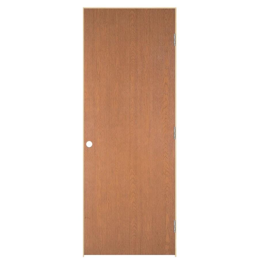 32 In X 78 In Unfinished Flush Hardwood Interior Door: Masonite Prehung Hollow Core Flush Hardwood Interior Door