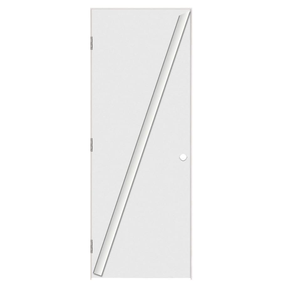 Masonite Prehung Hollow Core Flush Interior Door (Common: 24-in x 80-in; Actual: 25.5-in x 81.5-in)