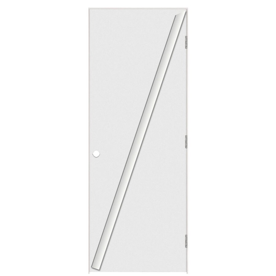 Masonite Flush Primed Hollow Core Hardboard Prehung Interior Door (Common: 28-in x 80-in; Actual: 29.5-in x 81.5-in)