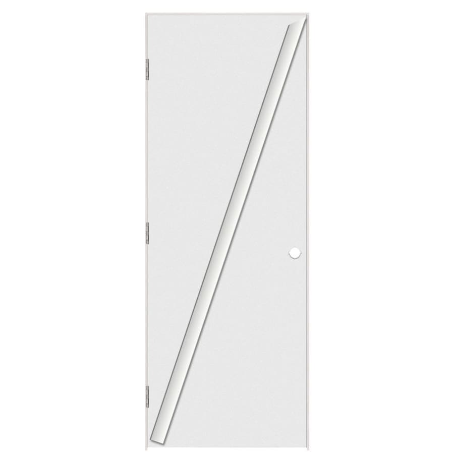 Masonite Classics Flush Single Prehung Interior Door (Common: 28-in x 80-in; Actual: 29.5-in x 81.5-in)