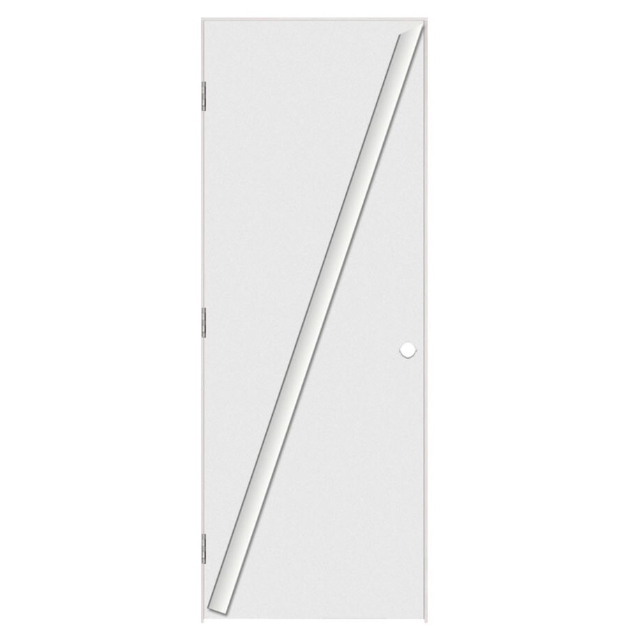 Masonite Flush Primed Hollow Core Hardboard Prehung Interior Door (Common: 30-in x 80-in; Actual: 31.5-in x 81.5-in)