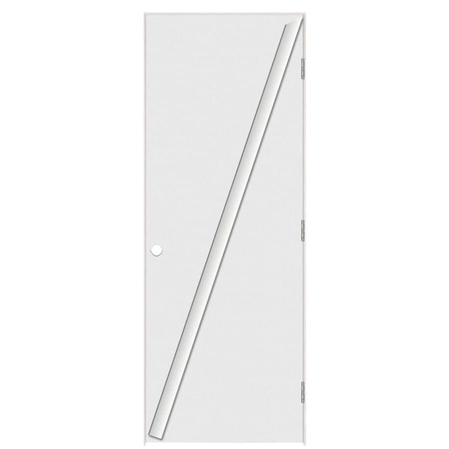 Masonite Flush Primed Hollow Core Hardboard Prehung Interior Door (Common: 36-in x 80-in; Actual: 37.5-in x 81.5-in)