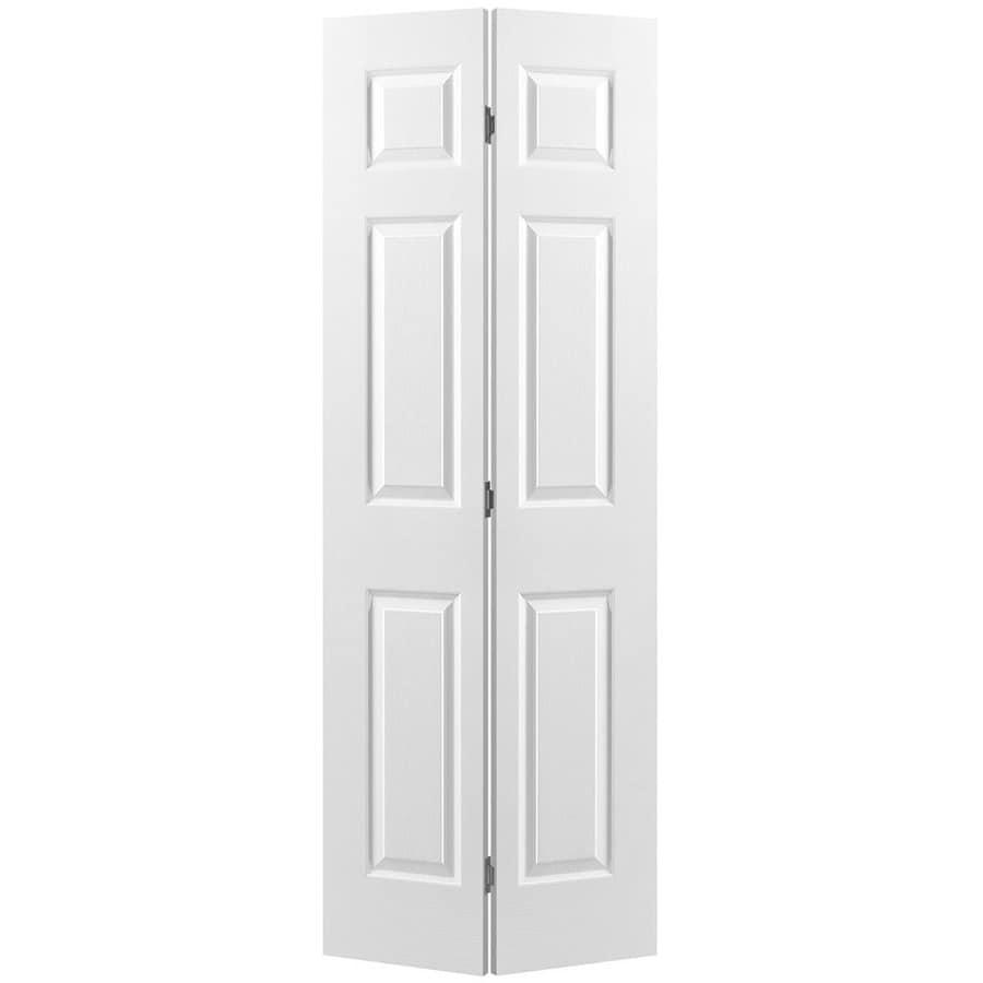 32 In X 78 In Unfinished Flush Hardwood Interior Door: Shop Masonite Primed 6-Panel Molded Composite Bifold Door