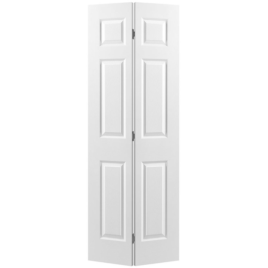 Masonite Hollow Core 6-panel Bi-fold Closet Interior Door (Common: 36-in X 78-in; Actual: 35.5-in x 77-in)