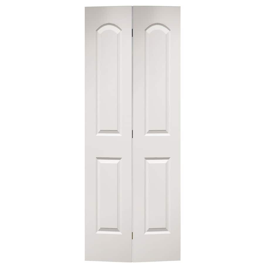Masonite Bifold And Closet Doors Primed 2 Panel Round Top Molded Composite Door Hardware Included Common 24 In X 80 Actual 23 5 79