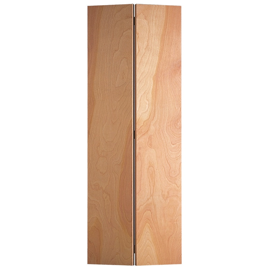 Masonite Bifold And Closet Doors Unfinished Flush Veneer Hardwood Door Hardware Included Common 24 In X 80 Actual 23 5 79