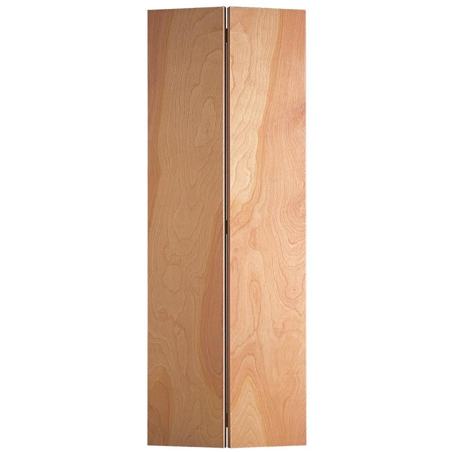 Masonite Flush Unfinished Hollow Core Veneer Hardwood Bi-Fold Closet Interior Door with Hardware (Common: 24-in X 80-in; Actual: 23.5-in x 79-in)
