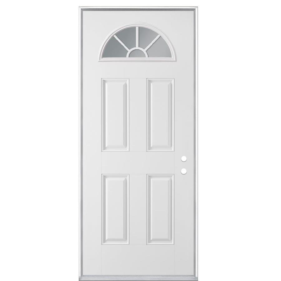 Masonite Left-Hand Inswing Steel Primed Entry Door (Common: 32-in x 80-in; Actual: 33.5-in x 81.5-in)
